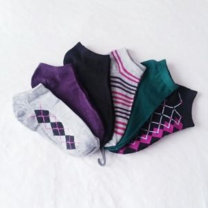 Accessories - Multicolored 6-Pack Ankle Socks